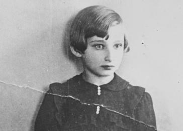 Close-up portrait of a young Lithuanian-Jewish girl taken only a year before the German invasion of Lithuania.