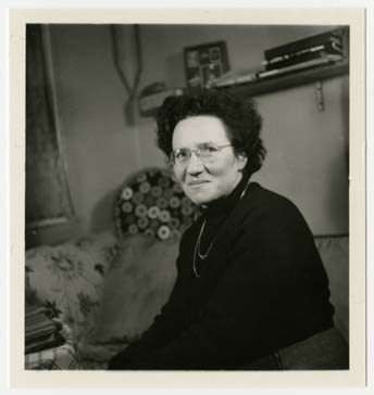 Portrait of Alice Goldberger, director of the Weir Courtney children's home.