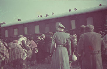Deportation of Jews from the Lodz ghetto to the Chelmno killing center.