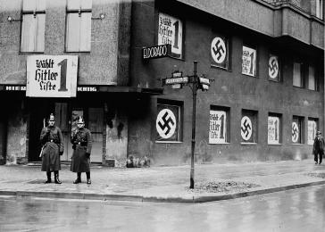 The closing of the Eldorado, a club where homosexuals socialized. Berlin, Germany, March 5, 1933.