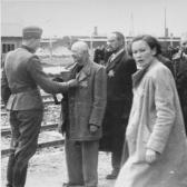 Hungarian Jews arrive at Auschwitz–Birkenau, May 1944.