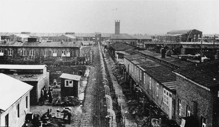Wartime view of the Neuengamme concentration camp.