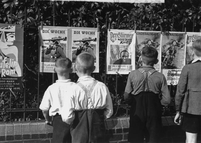 "Young German Boys View ""Der Stuermer"""