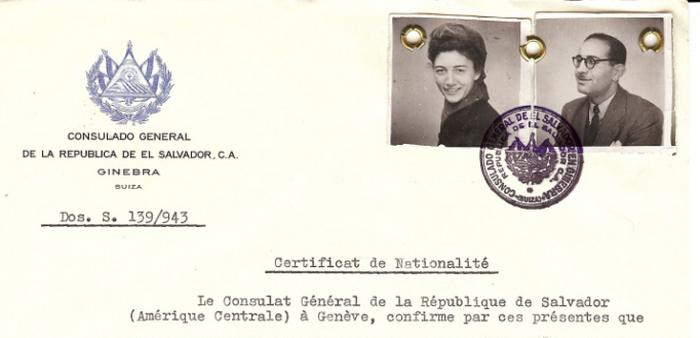 Many certificates were sent to Jews who themselves took active roles in rescue and resistance operations in occupied Europe. This certificate was sent to Julien and Vivette Samuel, leaders of the Children's Aid Society (Oeuvre de Secours aux Enfants; OSE) in France.