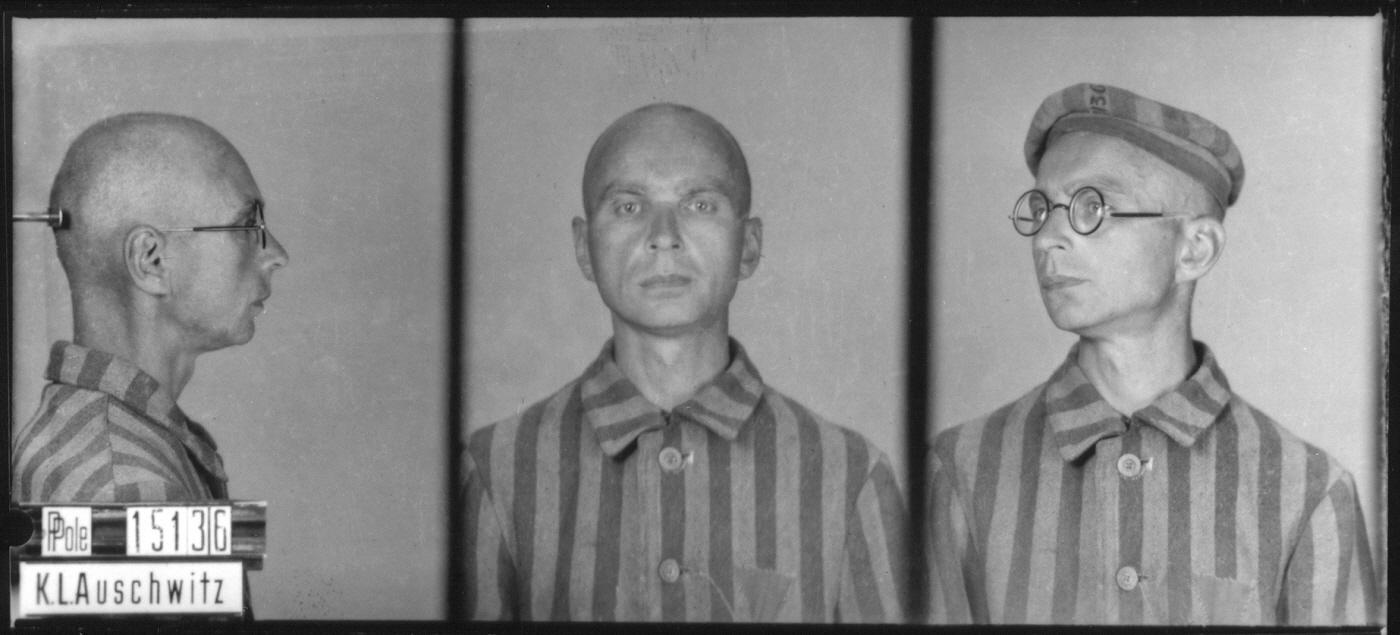 Mug shot of Auschwitz prisoner Waclaw Jacyna. Waclaw was born on August 7, 1897 in Wolkowyszki. He arrived in Auschwitz on April 22, 1941 and perished on June 13, 1942.