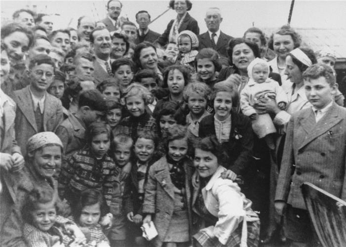 Passengers aboard the <i>St. Louis</i>. These refugees from Nazi Germany were forced to return to Europe after both Cuba and the US denied them refuge. May or June 1939.