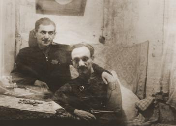 Chaim Yelin (right). <i>US Holocaust Memorial Museum, courtesy of Dov Levin</i>