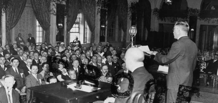 The American Jewish Congress holds an emergency session following the Nazi rise to power