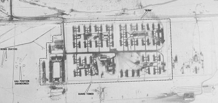 Aerial photograph of the Auschwitz III (Monowitz) camp