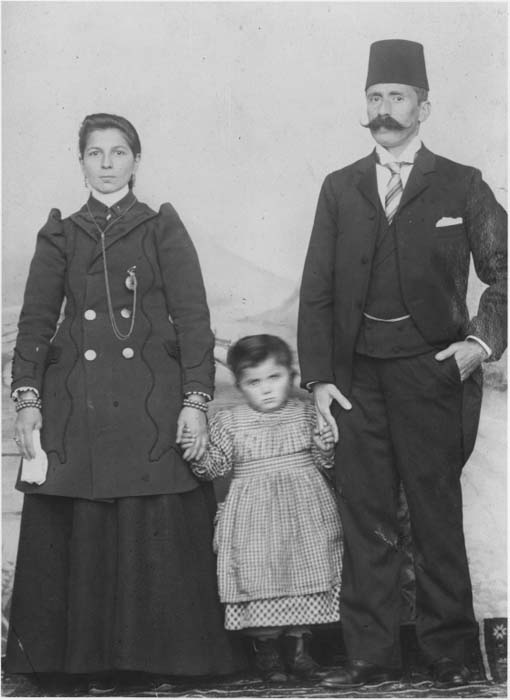An Armenian couple poses with their young child. Ottoman Empire, before 1915.
