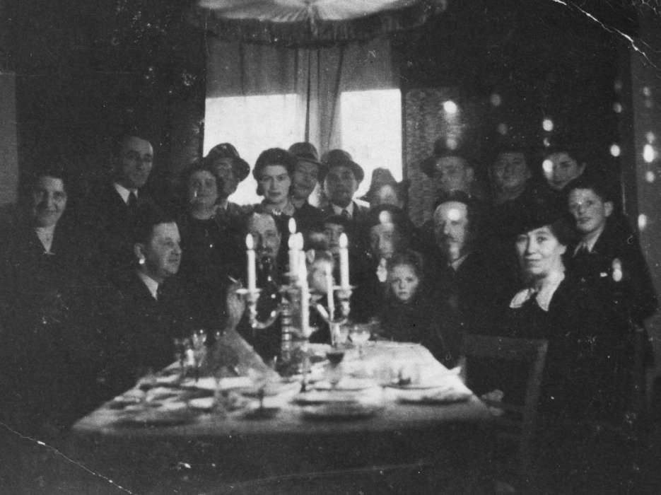A Jewish circumcision ceremony for Alfred Münzer at his home in The Hague.