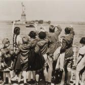Aided by philanthropists Gilbert and Eleanor Kraus, a group of Austrian Jewish children find safe haven in the United States, June 3, 1939.