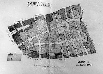 Map of the walled Pest ghetto, November-December 1944.