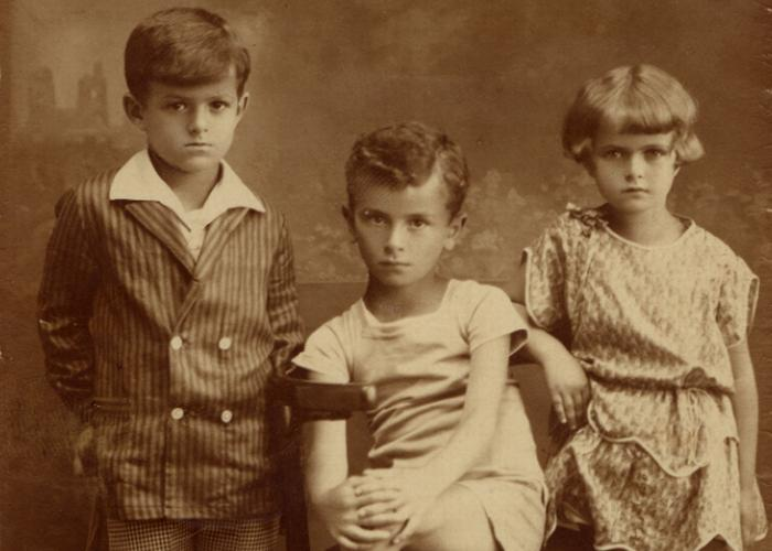 Adam and his cousins, Reggie and Eva, circa 1930.