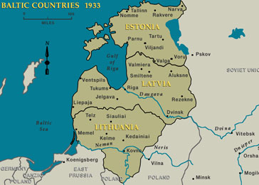 Baltic Countries in 1933