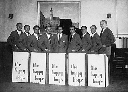 The Happy Boys band played in displaced persons camps throughout Germany from 1945 to 1949.