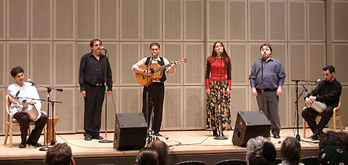 Khanci Dos in performance, USHMM Rubinstein Auditorium, December 11, 2003.