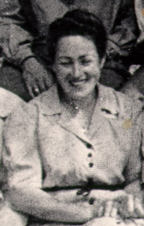 Betty Segal in the Landsberg displaced persons camp. Germany, ca. 1946.