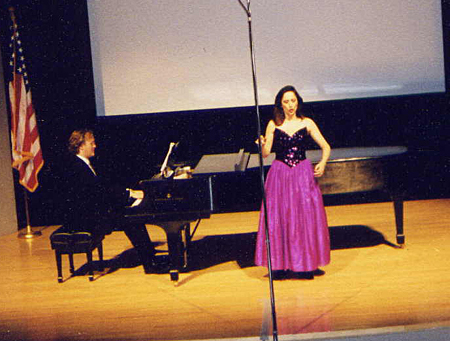 Performance by Béatrice Beer with Kelly Horsted at the United States Holocaust Memorial Museum. December 5, 1999.