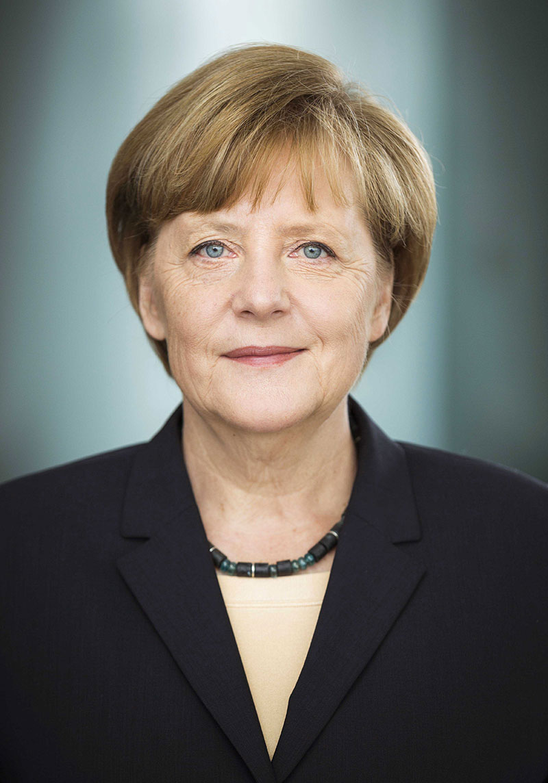 2017: German Chancellor Angela Merkel