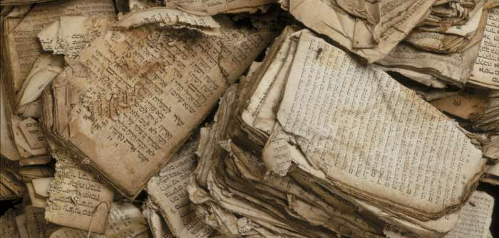 Jewish religious texts damaged during Kristallnacht