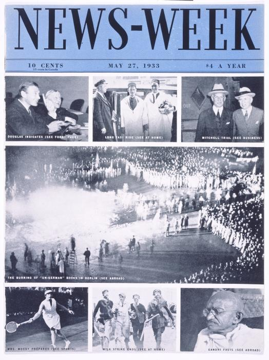 Cover of <i>News-Week</i>, May 27, 1933. <i>US Holocaust Memorial Museum</i>