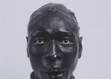 "Heads of racial types, created by anthropologists from plaster molds of the faces of living subjects, were mass produced in Nazi Germany for use in exhibitions and racial hygiene classes. This head portrays the ""Negro"" racial type.&nbsp; <i>Blinden-Museum an der Johann-Agust-Zeune-Schule fur Blinde, Berlin</i>"