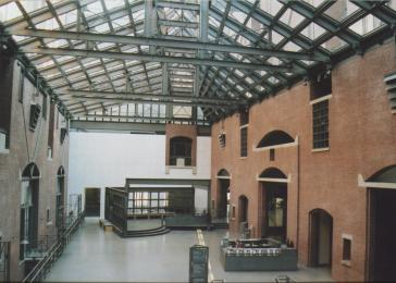 The Museum's north and east walls and floor in the Hall of Witness.