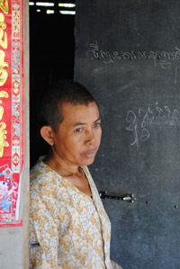 Taing Kim, survivor of the Cambodia<br> killing fields, in Kampong Chhnang,<br> Cambodia