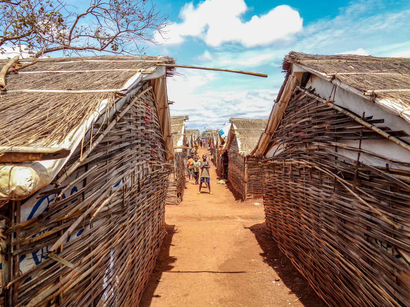 View of shelters in Wau Protection of Civilians site Adjacent Area, South Sudan, in 2018.