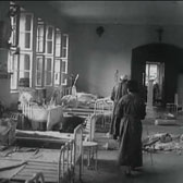 Bombed hospital in besieged Warsaw, 1939