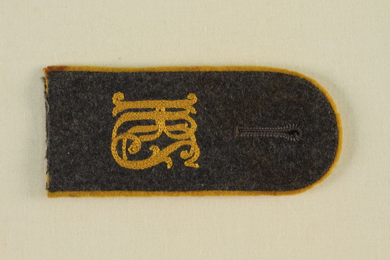 1985.1.10 front Luftwaffe KRS shoulder board with gold piping acquired by US soldier