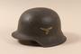 Luftwaffe M1942 helmet taken from a German soldier by US soldier