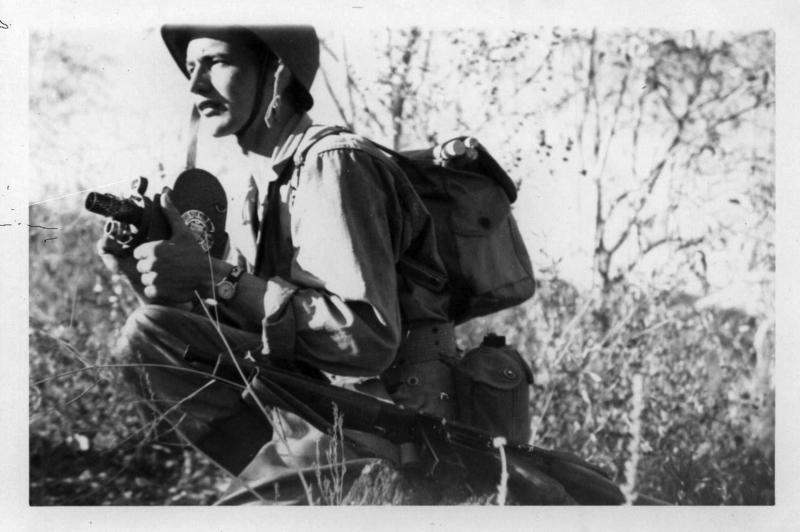 Cameraman Mainzer filming in Europe Buchenwald; bombing of countryside