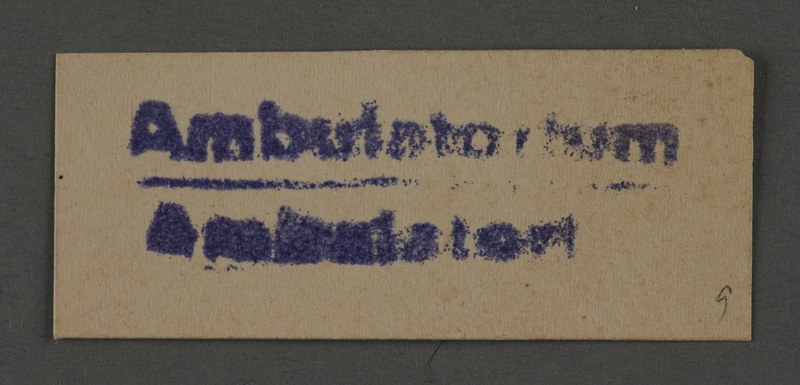1995.89.1016 front Ink stamp impression from an administrative department of the Kovno ghetto