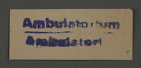 1995.89.1016 front Ink stamp impression from an administrative department of the Kovno ghetto  Click to enlarge