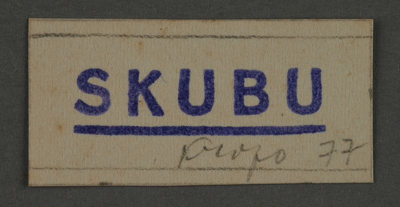 1995.89.1019 front Ink stamp impression from an administrative department of the Kovno ghetto