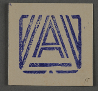 1995.89.1026 front Ink stamp impression from an administrative department of the Kovno ghetto  Click to enlarge