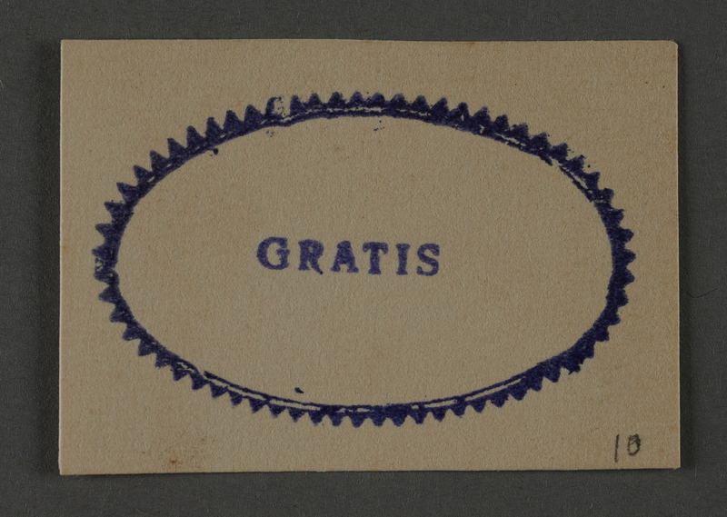 1995.89.1027 front Ink stamp impression from an administrative department of the Kovno ghetto