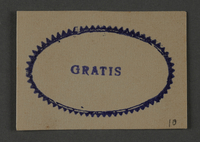 1995.89.1027 front Ink stamp impression from an administrative department of the Kovno ghetto  Click to enlarge