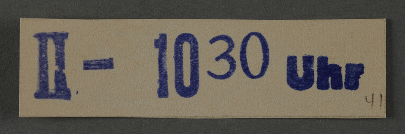 1995.89.1029 front Ink stamp impression from an administrative department of the Kovno ghetto