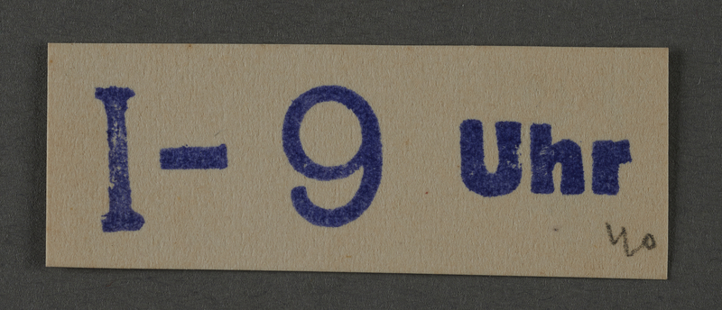 1995.89.1030 front Ink stamp impression from an administrative department of the Kovno ghetto