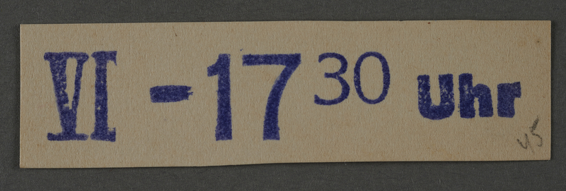 1995.89.1031 front Ink stamp impression from an administrative department of the Kovno ghetto