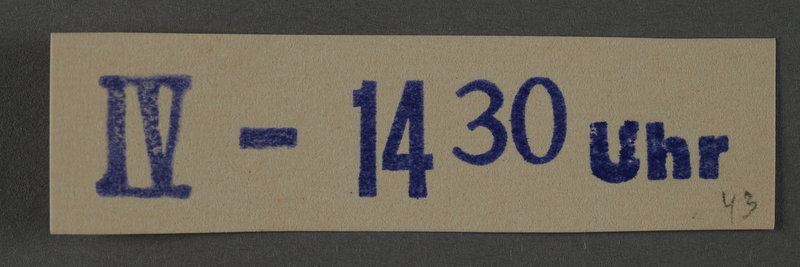 1995.89.1032 front Ink stamp impression from an administrative department of the Kovno ghetto