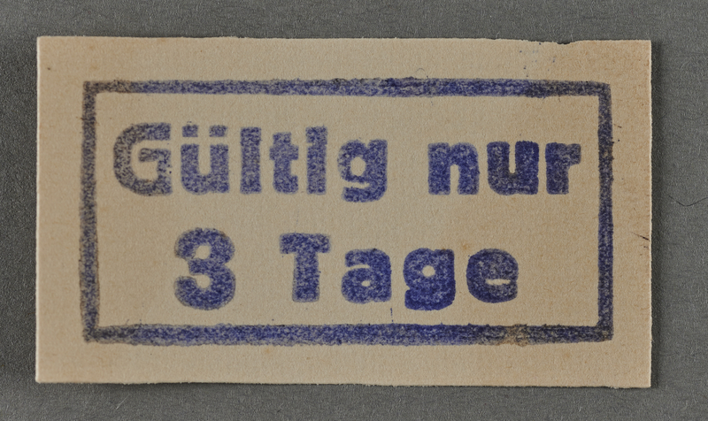 1995.89.1035 front Ink stamp impression from an administrative department of the Kovno ghetto