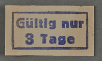 1995.89.1035 front Ink stamp impression from an administrative department of the Kovno ghetto  Click to enlarge