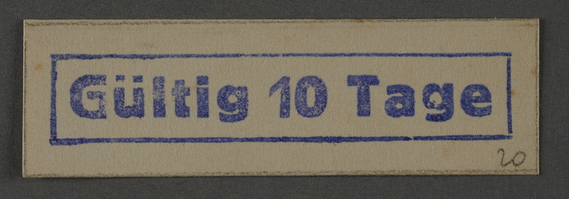 1995.89.1037 front Ink stamp impression from an administrative department of the Kovno ghetto