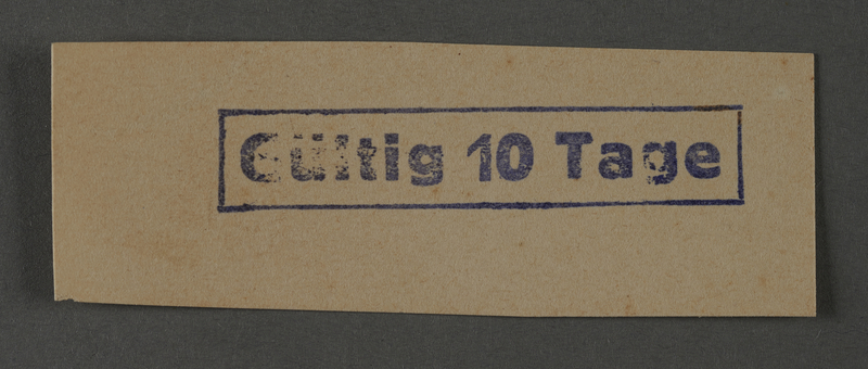 1995.89.1038 front Ink stamp impression from an administrative department of the Kovno ghetto