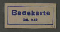 1995.89.1040 front Ink stamp impression from an administrative department of the Kovno ghetto  Click to enlarge