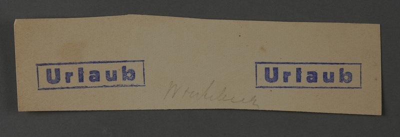 1995.89.1041 front Ink stamp impression from an administrative department of the Kovno ghetto